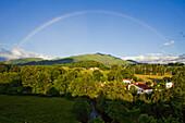 Pyrenees near Saint-Jean-Pied-de-Port, Camino Frances, Way of St. James, Camino de Santiago, pilgrims way, UNESCO World Heritage, European Cultural Route, Pyrenees Atlantiques, Southern France, France, Europe