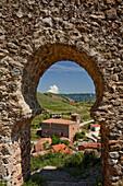 Castillo de Clavijo, view from the castle, near Logrono, Camino Frances, Way of St. James, Camino de Santiago, pilgrims way, UNESCO World Heritage, European Cultural Route, La Riojo, Northern Spain, Spain, Europe
