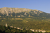 View at mountains at Caramanico Terme, Maiella National Park, Abruzzi, Italy, Europe