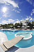 Swimming-Pool, Ekies Hotel, Vourvouru, Sithonia, Chalkidiki, Greece