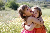 Caucasian ethnicity, child, childhood, Female, field, flower, girl, kid, spring, young, youth, F57-1148283, AGEFOTOSTOCK