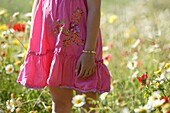 Caucasian ethnicity, child, childhood, Female, field, flower, girl, kid, spring, young, youth, F57-1148984, AGEFOTOSTOCK