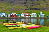 Kayaks Seydisfjördur Iceland