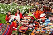 Ethnic Peruvian market at the sonesta Posada del Inca hotel in Yucay, Peru, South America