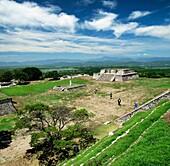 Plaza de los Dos Glifos. Xochicalco archaelogical site. Mexico