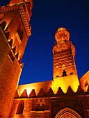 Minarets, Al Nasir Mohamed Madrasa Mausoleum, Cairo, Egypt