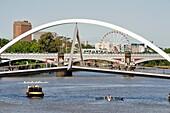 Pedestrian bridge over the Yarra River, Melbourne, Victoria, Australia