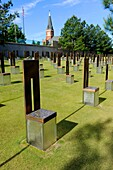 Field of empty chairs Oklahoma City National Memorial Bombing Site Alfred P Murrah Building