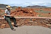 Park Ranger at Wupatki Pueblo National Monument Flagstaff Arizona