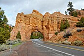 Tunnels on Scenic Byway 12 near Bryce Canyon National Park Utah