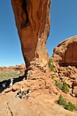 The North and South Window Sections Arches National Park Moab Utah