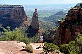 View of Balanced Rock Colorado National Monument Grand Junction