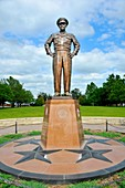 Dwight D Eisenhower Champion of Peace Statue Abiliene Kansas