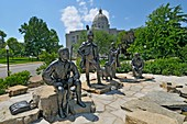 Lewis and Clark Trailhead Plaza State Capitol Jefferson City Missouri