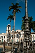 Terreiro de Jesus and Third Order of Saint Domingos, because of the Church of the Jesuits current Cathedral Basilica And fountain of French origin 1855, represents the Ceres goddess, of agriculture, Pelourinho Old quarter, Salvador de Bahia, Brasil