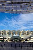 Gare do Oriente railway station designed by Santiago Calatrava, Parque das Nações (location for the Expo 98), Lisbon, Portugal