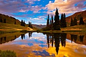 A pond on Paradise Divide at 11, 500 feet, near Crested Butte, Colorado USA
