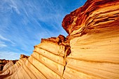 Arizona, Curves, Delicate, Desert, Fin, Landscape, Nature, Navajo land, Page, Rock, Sandstone, Scenic, Southwest, United states of america, Waterholes slot canyon, S19-1107314, agefotostock