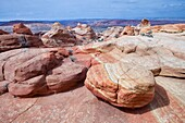 Arizona, Cottonwood cove, Delicate, Desert, Fin, Landscape, Nature, Page, Rock, Sandstone, Scenic, South coyote buttes, Southwest, United states of america, S19-1107397, agefotostock