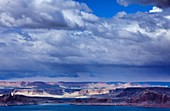 Arizona, Butte, Delicate, Desert, Lake powell, Landscape, Nature, Page, Rock, Scenic, Southwest, Storm, United states of america, Weather, S19-1107418, agefotostock