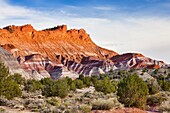 Arizona, Badlands, Butte, Delicate, Desert, Landscape, Nature, Page, Paria movie set, Rock, Scenic, Southwest, Storm, United states of america, Weather, S19-1107423, agefotostock