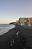 Black sand beach at the pilgrimage site of Candelaria, Tenerife, Canary Islands, Spain