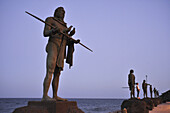 Statues of Guanches, aboriginal inhabitants of the Canary Islands, Candelaria, Tenerife, Canary Islands, Spain