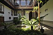 San Cristobal de la Laguna, old town, patio of Casa Montane´s, Tenerife, Canary Islands, Spain