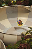 Helter-skelter at Siam Park, Las Americas, South Tenerife, Canary Islands, Spain