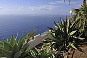 Ocean view from a park high above the sea, El Sauzal, Tenerife, Canary Islands, Spain