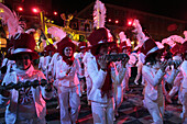 Parade Of Floats And Carnivalesque Characters On The Place Massena, Carnival Of Nice, Alpes-Maritimes (06), France