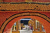Recreation Of The Decor From The Film Ben Hur, Exhibition Of Giant Motifs Made Of Citrus Fruits Based On A Cinema Theme, Lemon Festival, Bioves Garden, Menton, Alpes-Maritimes (06), France