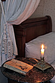 Young Marcel's Bedroom And Book By Francois Le Champi On His Nightstand, Tante Leonie's House, Illiers-Combray, Ideal Childhood Village Of The Writer Marcel Proust In His Novel 'Remembrance Of Things Past', Eure-Et-Loir (28), France