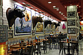 Bar With A Bullfighting Theme, Near The Plaza Santa Ana, Madrid, Spain