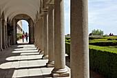 The Arcades Leading To The Los Frailes Garden (The Monks' Garden), El Escorial Monastery, San Lorenzo De El Escorial, Spain