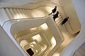 Metal Stairway In The Caixa Forum, Cultural Center, Madrid, Spain