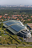 aerial of the Finanz_IT building at Kronsberg, Hannover, Lower Saxony, Germany