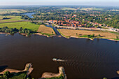 Hitzacker at the junction of the Jeetzel River on upper Elbe River, Lower Saxony, Germany