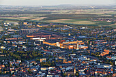 Aerial photo of steelworks, Peine, Lower Saxony, Germany