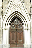 Church door of monastery Admont, valley of Ennstal, Ennstal bicycle route, Styria, Austria