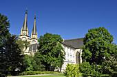 Church of monastery Admont, valley of Ennstal, Ennstal bicycle route, Styria, Austria