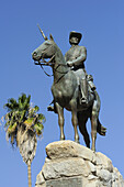 Equestrian memorial of Rider of Southwest, Suedwester Reiter, Old fort, Windhuk, Windhoek, Namibia