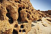 Eolian erosion at granite rock, stone desert, Namib Naukluft National Park, Namib desert, Namib, Namibia