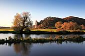 Rock formation Burgstein, Dollnstein, Altmuehltal nature park, Bavaria, Germany