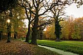 Schlosspark im Herbst, Schlemmin, Mecklenburg-Vorpommern, Deutschland
