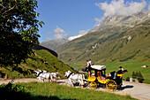 Post coach near Hospental, Andermatt, Canton of Uri, Switzerland