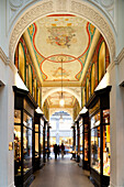 Mellin-Passage, Hamburg oldest and smallest passage with Art Nouveau painting on the ceiling,  Hanseatic city of Hamburg, Germany, Europe