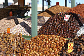Dried fruit, market, Marrakech, Morroco, Africa