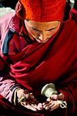 Abenteuer, Buddha, Buddhismus, Chadar, Chaddar, Entdeckungsreise, Indien, Jammu und Kaschmir, Kälte, Ladakh, Tours, Treck, Winter, Zanskar, T91-1213008, AGEFOTOSTOCK