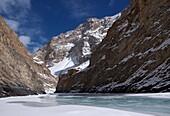Abenteuer, Buddha, Buddhismus, Chadar, Chaddar, Entdeckungsreise, Indien, Jammu und Kaschmir, Kälte, Ladakh, Tours, Treck, Winter, Zanskar, T91-1213037, AGEFOTOSTOCK